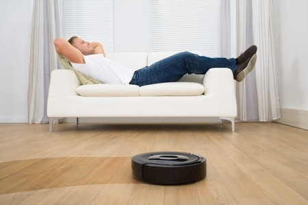 Robot Vacuum in Use