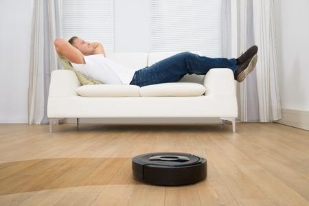 Robot Vacuum in Use