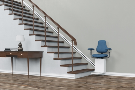 Stair Lift at the bottom of the Staircase