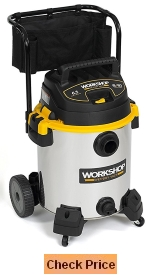 WORKSHOP Wet and Dry Vacs WS1600SS Stainless Steel 6 5-Peak Vacuum Cleaner
